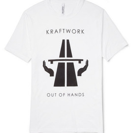 "Neil Barrett - ""KRAFTWORK"" Printed Distressed Cotton-Jersey T-Shirt"