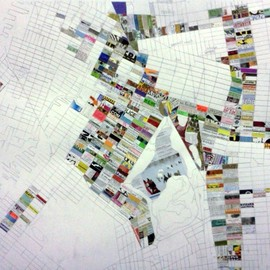 Jennifer Maravillas - Artist Creates a Block by Block Map of Brooklyn Using Trash Found in the Streets