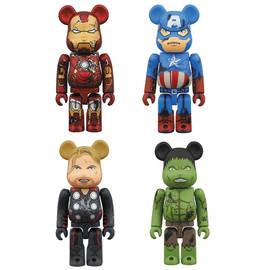 MEDICOM TOY - BE@RBRICK THE AVENGERS DAMAGE Ver. 100%