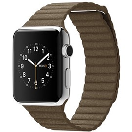 Apple - Watch Band Leather Loop Light Brown
