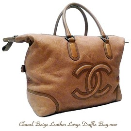 CHANEL - Large Leather Duffle Bag
