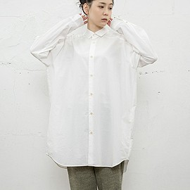 Dulcamara - Yoke Sleeve Big Shirts ( White ) - 15AW