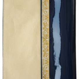 karen walker - Filgree Clutch (navy/tan)
