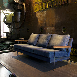 "cubic style - DENIM Sofa ""Smith"":デニムソファ""スミス"""