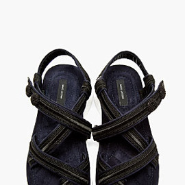 MARC JACOBS - Black Embroidered ONDA Sandals