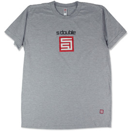 S/DOUBLE - Basic Logos Tee - Grey