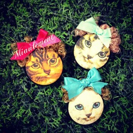 miaulement - Cat Brooch