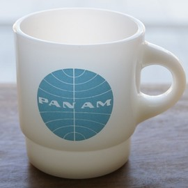 Fire King - Round handle PANAM advertising mug