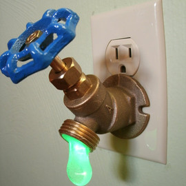 Greyturtle - Green LED Faucet Valve night light