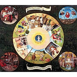 Hieronymus Bosch - Tabletop of The Seven Deadly Sins and The Four Last Things-Great Art Now