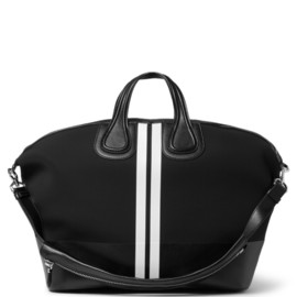 GIVENCHY - LEATHER-TRIMMED NEOPRENE NIGHTINGALE TOTE BAG