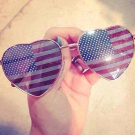Full Tilt - Luv Heart American Flag Sunglasses