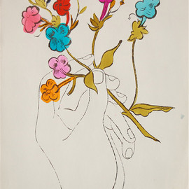Andy Warhol - hand and flowers