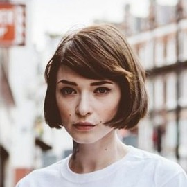 short bob and bangs