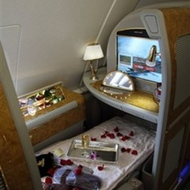 Emirates - First Class Cabin