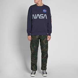 ALPHA INDUSTRIES - NASA REFLECTIVE CREW SWEAT