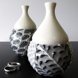 cynthiavardhan - Single Grey Bud Vase