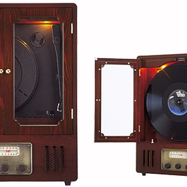 apix intl - Wooden Record Player