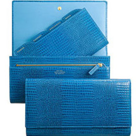 Smythson - Travel clutch / Cerulean Collection