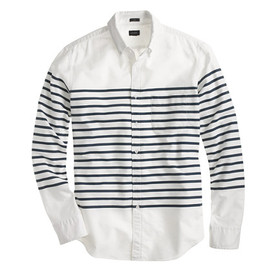 J.CREW - Slim vintage oxford in horizontal stripe
