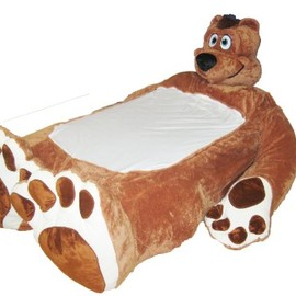 INCREDIBEDS - Incredibeds Plush bed frame Bo, Male brown bear