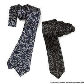 uniform experiment - KEITH HARING NARROW NECK TIE