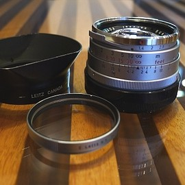 Leica - Summilux 35mm 1st with OLLUX Hood silver