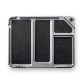Dango Products - EDC Tray w/ DTEX Pads - Silver/Black