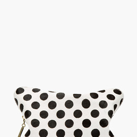 3.1 Phillip Lim - Black Calfhair Polka Dot 31 Hour Cosmetic Case