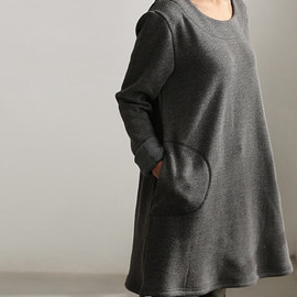 etsy - simple warmth Dress bottoming shirt gown