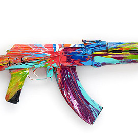 Damien Hirst - Spin AK47 for Peace Day 2012