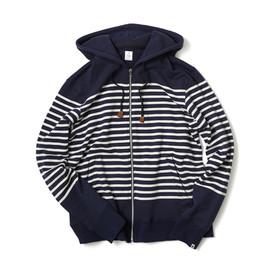 HEAD PORTER PLUS - BORDER SWEAT PARKA NAVY