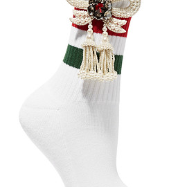 GUCCI - Little William embellished ribbed cotton-blend socks