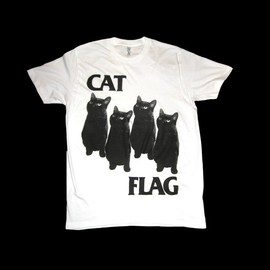 SleazySeagull - Black Flag CAT FLAG T Shirt Size Medium