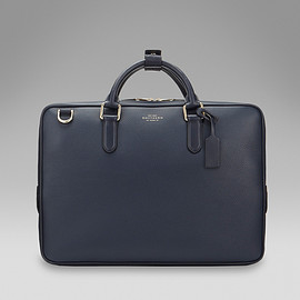 SMYTHSON - Burlington collection slim brief case