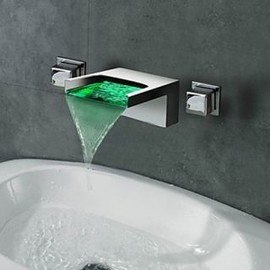Waterfall Wall Mount 3 Colors LED Bathroom