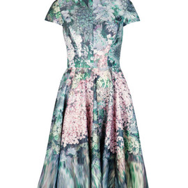 TED BAKER - Glitch floral printed dress