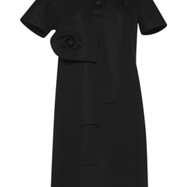 VIKTOR & ROLF - SS2016 Couture Capsule Collection Black Technical Pique Polo Dress