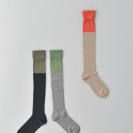 atelier naruse - 2 color rib highsocks