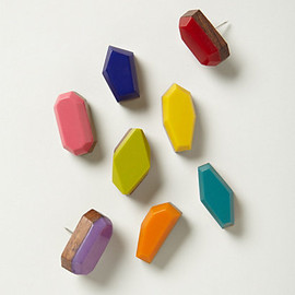 Anthropologie - faceted pushpins