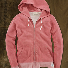 RALPH LAUREN DENIM &SUPPLY - Marled Full-Zip Hoodie RED