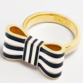 COACH - striped ring