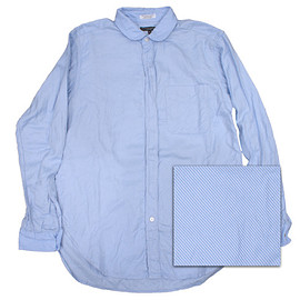 Engineered Garments - Rounded Collar Shirt - Lt. Blue / White French Twill