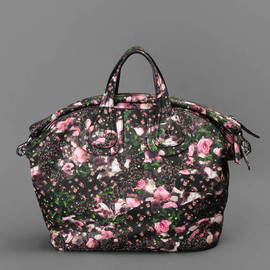 GIVENCHY - ALL OVER FLOWER AND CAMO PRINTED NIGHTINGALE BAG