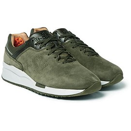 New Balance - 2016 Deconstructed Leather-Trimmed Nubuck Sneakers