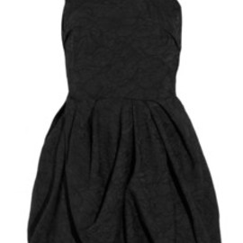 LANVIN - Embroidered bubble-skirt crepe dress