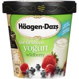 Haagen-Dazs - Haagen-Dazs Low Fat Wildberry Frozen Yogurt, 14 oz