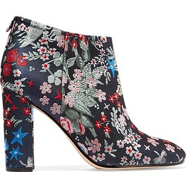 Sam Edelman - Cambell floral-brocade ankle boots