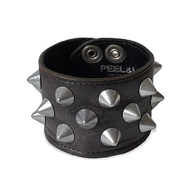 PEEL&LIFT - 2 x 1 row conical wristband / black