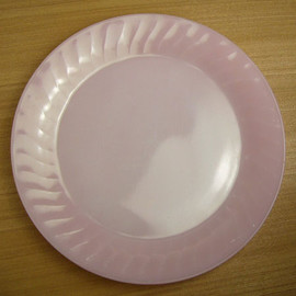 Fire King - Pink Swirl 11 inches Serving Plate